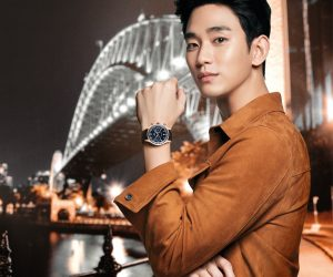 Kim Soo Hyun parades Mido's new Multifort Patrimony Chronograph